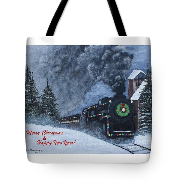Merry Christmas Train Tote Bag