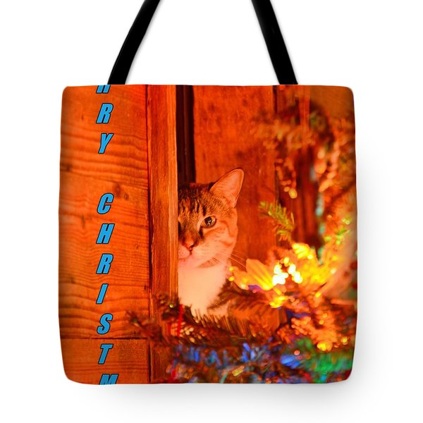 Tote Bag featuring the photograph Merry Christmas Waiting For Santa by Lisa Wooten