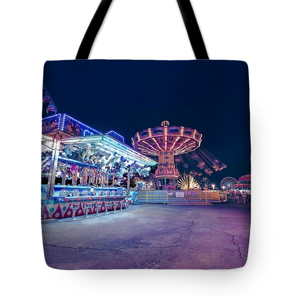 Tote Bag featuring the photograph Merry Go Creepy by JD Mims