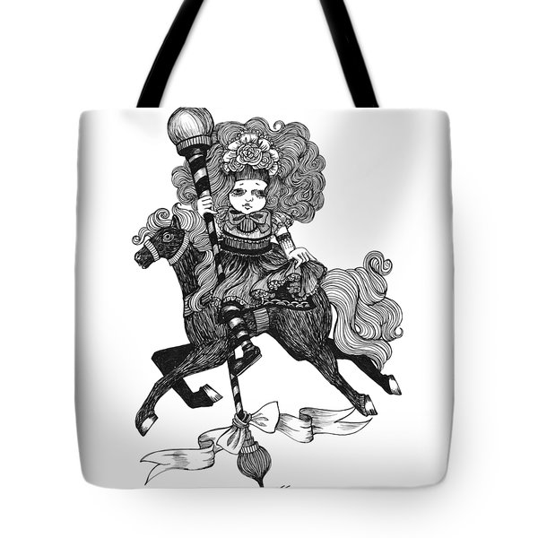 Merry-go-round Girl Tote Bag