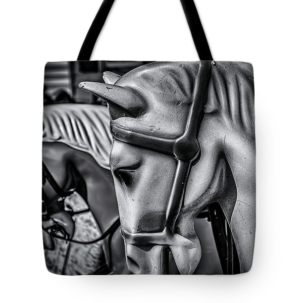 Merry-go-round-horses Tote Bag by Ken Morris