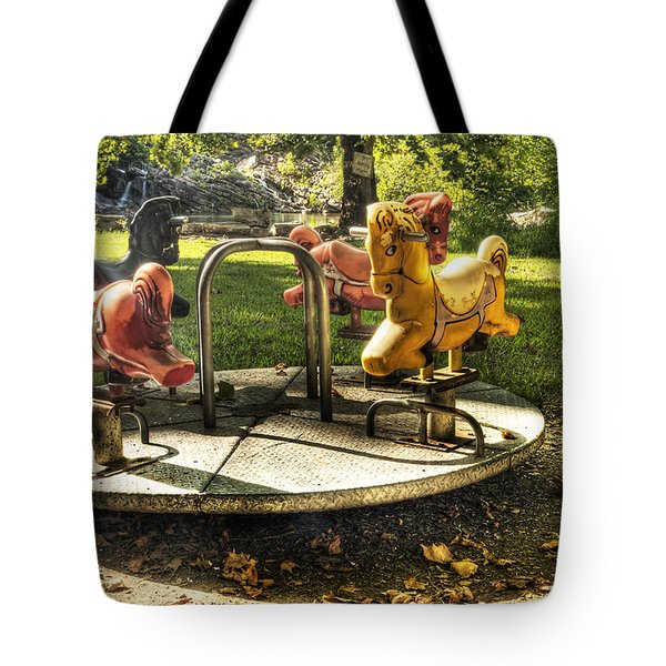 Tote Bag featuring the photograph Merry-go-round by Tamyra Ayles