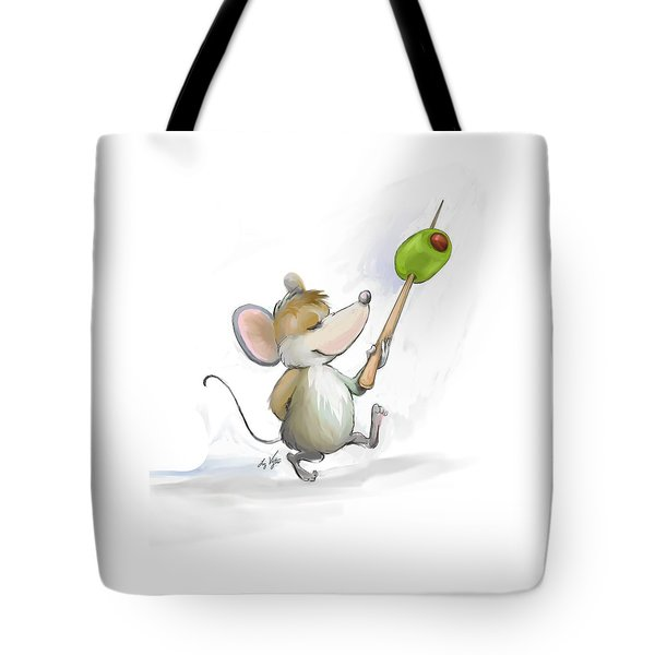 Merry Mouse Moe With Olive Tote Bag