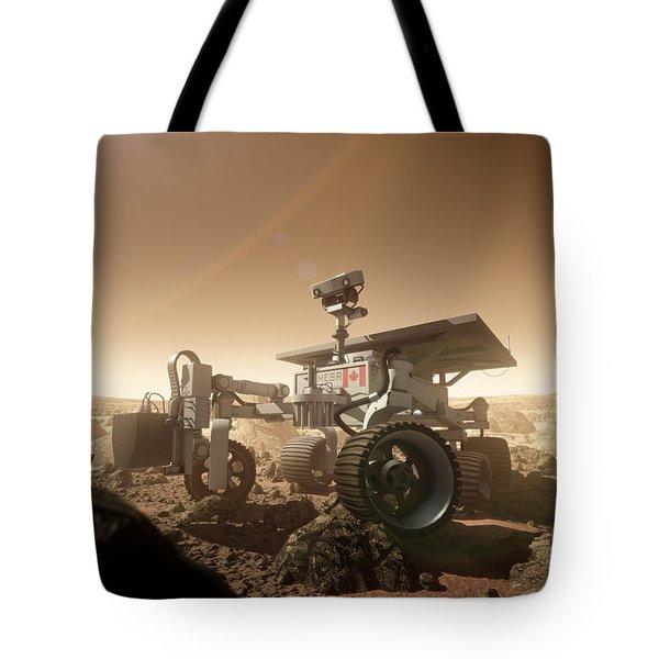 Tote Bag featuring the digital art Mers Rover by Bryan Versteeg