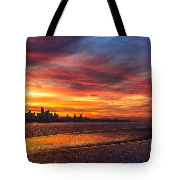 Mersey Sunrise Tote Bag