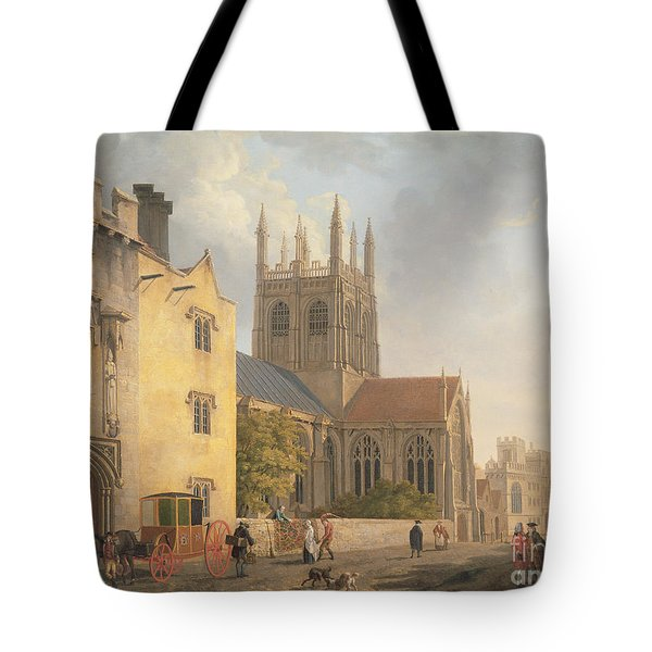 Merton College - Oxford Tote Bag by Michael Rooker