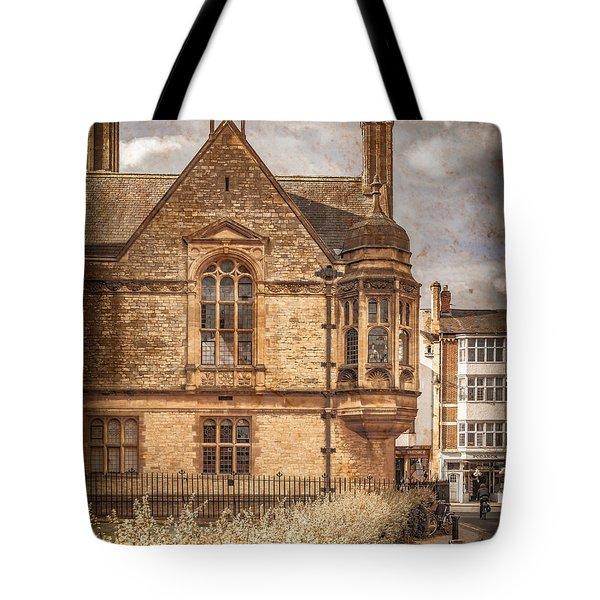 Oxford, England - Merton Street Tote Bag