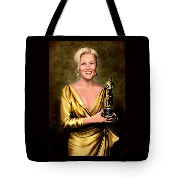 Meryl Streep Winner Tote Bag by Jann Paxton