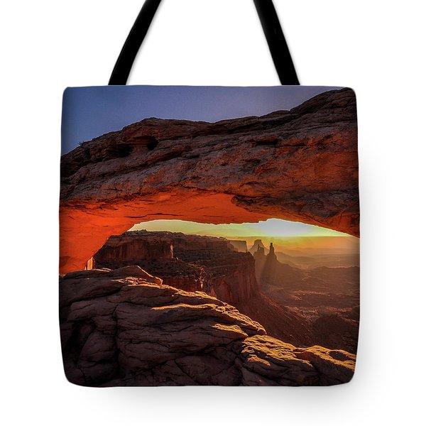 Mesa Arch At Sunrise 1, Canyonlands National Park, Utah Tote Bag