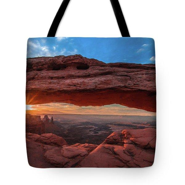 Mesa Arch At Sunrise 3, Canyonlands National Park, Utah Tote Bag