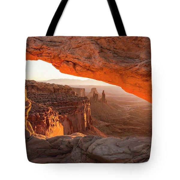 Mesa Arch Sunrise 5 - Canyonlands National Park - Moab Utah Tote Bag by Brian Harig