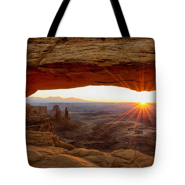 Mesa Arch Sunrise - Canyonlands National Park - Moab Utah Tote Bag