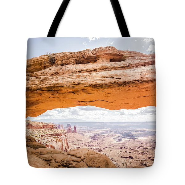 Mesa Arch Sunrise Tote Bag by JR Photography