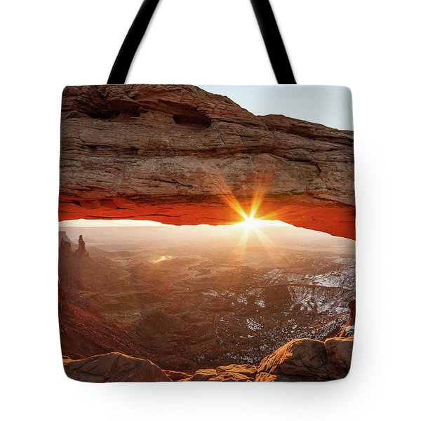 Tote Bag featuring the photograph Mesa Arch by Wesley Aston