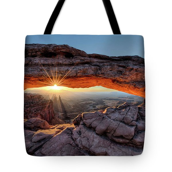 Mesa Arch Sunburst By Olena Art Tote Bag