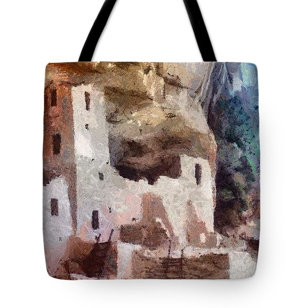 Tote Bag featuring the painting Mesa Verde by Jeffrey Kolker