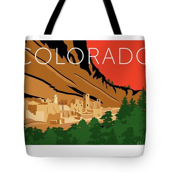 Mesa Verde Orange Tote Bag