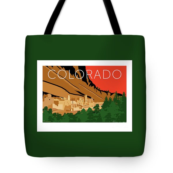 Tote Bag featuring the digital art Mesa Verde Orange by Sam Brennan