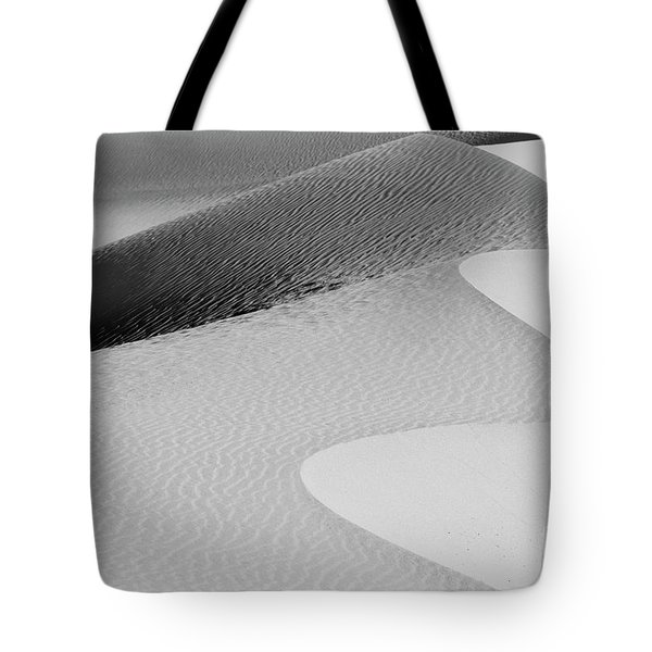 Tote Bag featuring the photograph Mesquite Dunes Patterns by Sandra Bronstein