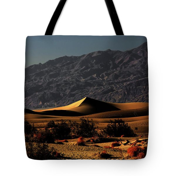 Mesquite Flat Sand Dunes Death Valley - Spectacularly Abstract Tote Bag by Christine Till