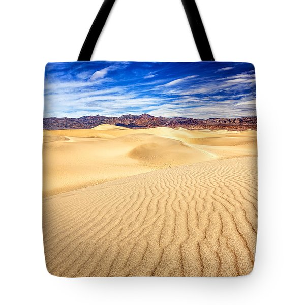 Mesquite Flat Sand Dunes In Death Valley Tote Bag
