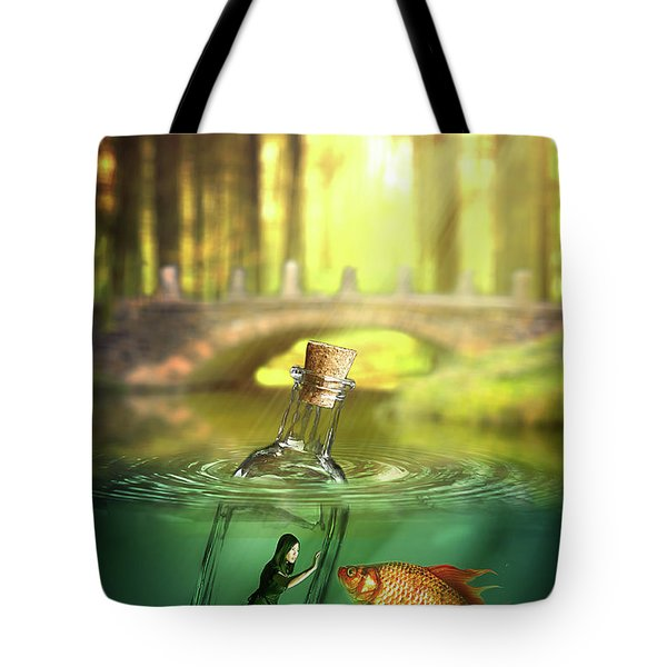 Message In A Bottle Tote Bag by Nathan Wright