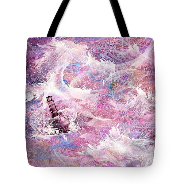 Message In A Bottle Tote Bag by Rachel Christine Nowicki