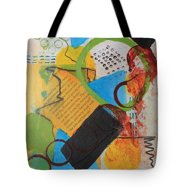 Messy Circles Of Life Tote Bag