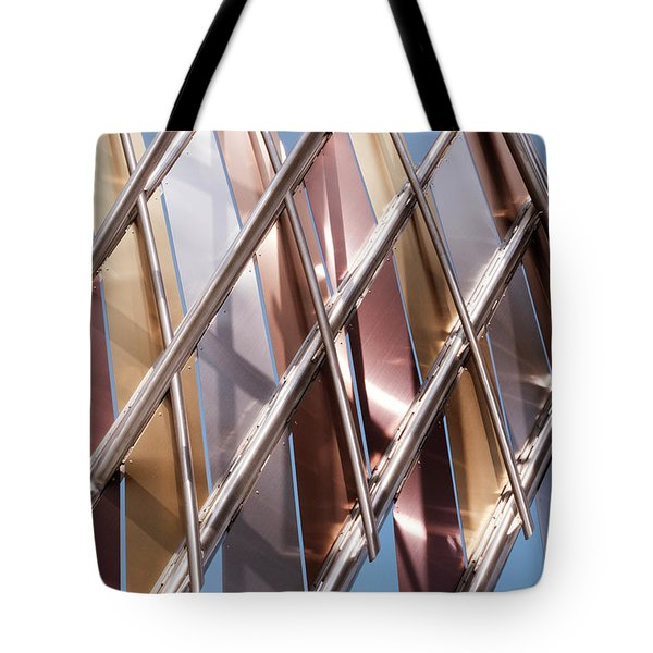 Metal Abstract With Lines And Angles In Lansing Michigan Tote Bag