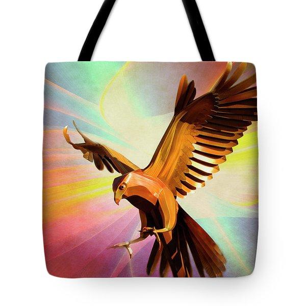 Metal Bird 1 Of 4 Tote Bag
