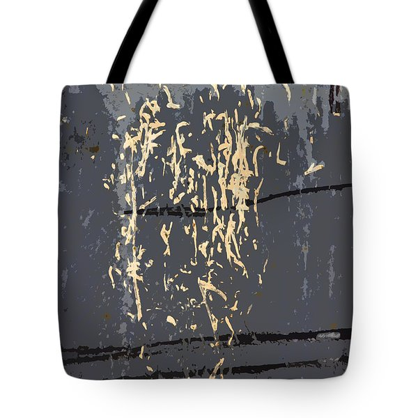 Metal Calligraphy Tote Bag by Carol Leigh