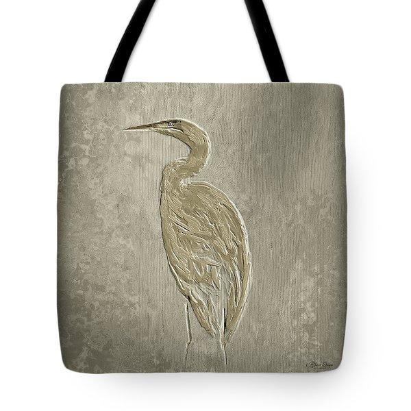 Metal Egret 4 Tote Bag