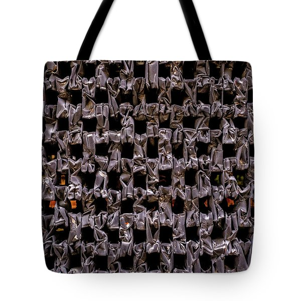 Metal Faces In Downtown Winter Park Florida Tote Bag