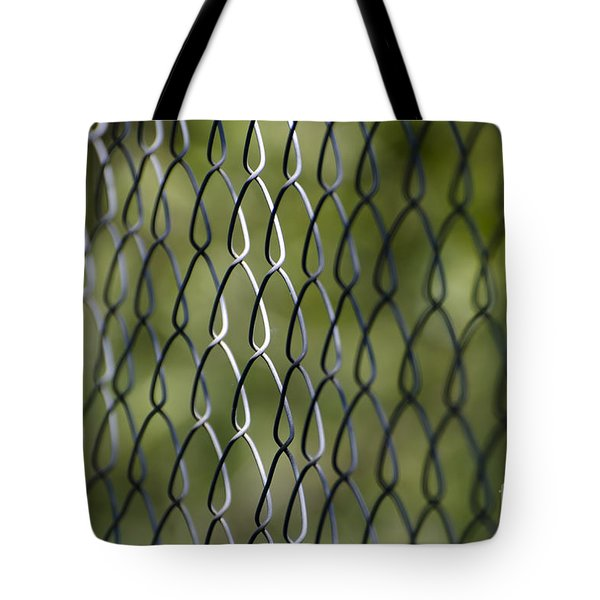 Metal Fence Tote Bag