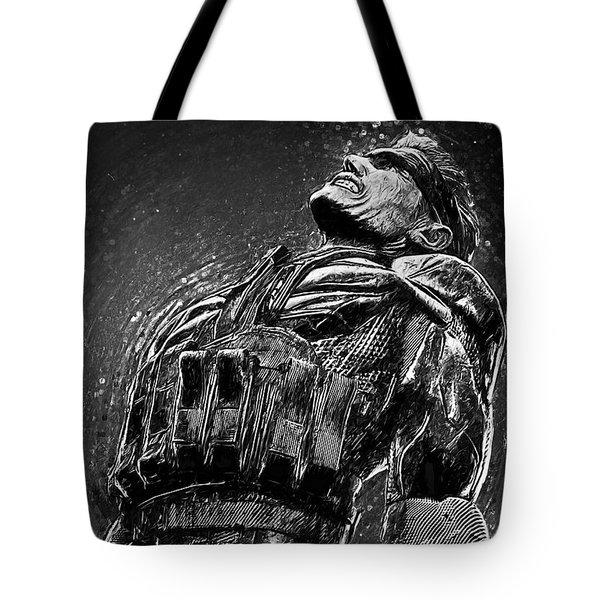 Tote Bag featuring the digital art Metal Gear Solid by Taylan Apukovska