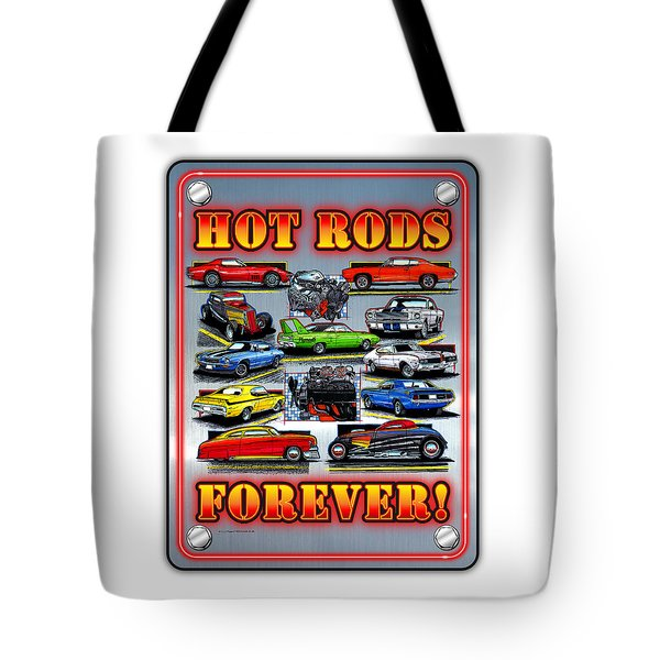 Metal Hot Rods Forever Tote Bag