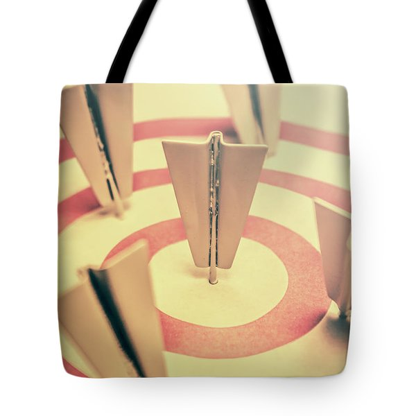 Metal Paper Planes In Target, Business Aims Tote Bag