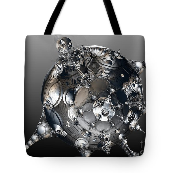 Tote Bag featuring the digital art Metal Robot by Melissa Messick