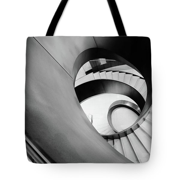 Metal Spiral Staircase London Tote Bag