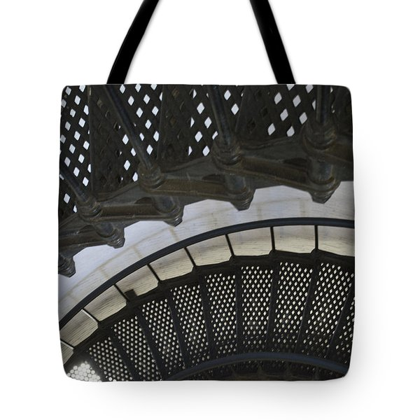 Metal Stair Case Tote Bag by Linda Geiger