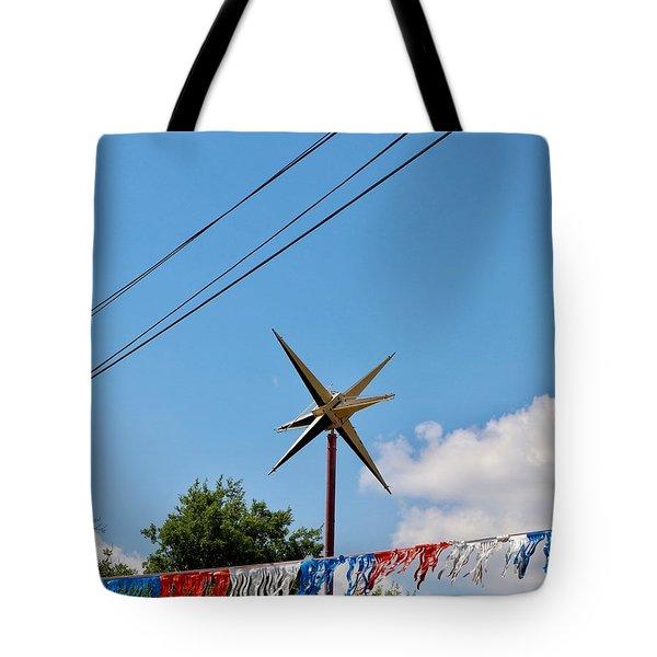 Metal Star In The Sky Tote Bag