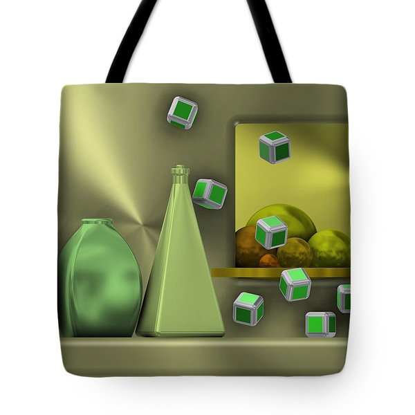 Metalic Still Life With Cubes Flying Tote Bag