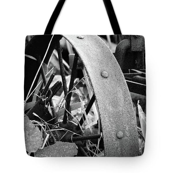Metal Wheel Tote Bag