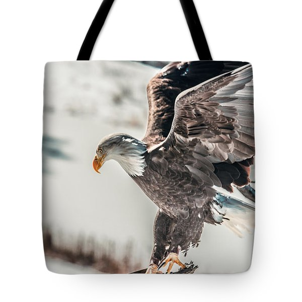 Metallic Bald Eagle  Tote Bag