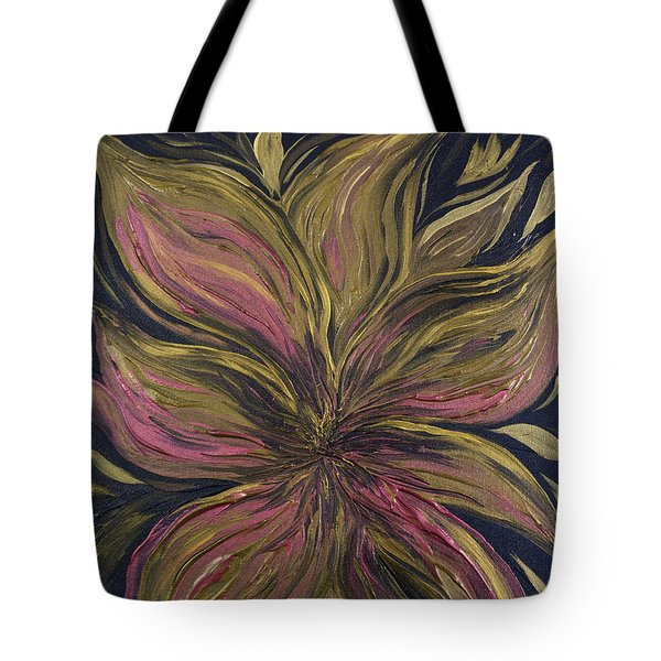 Metallic Flower Tote Bag