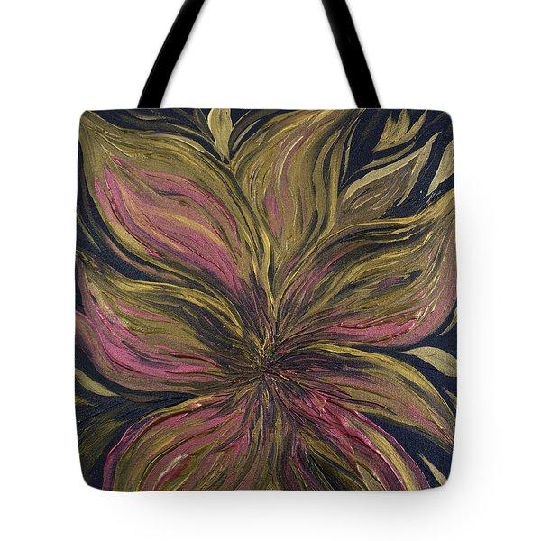 Metallic Flower Tote Bag