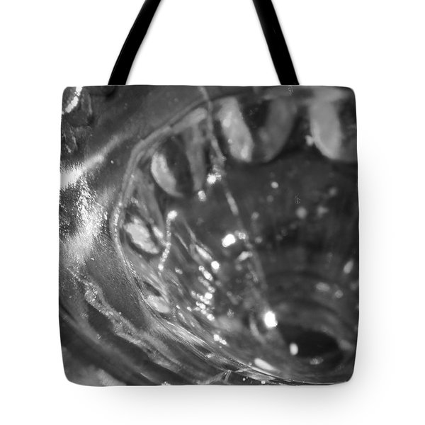 Metallic Glass Tote Bag