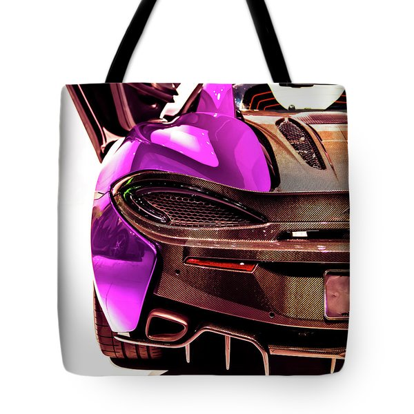 Metallic Heartbeat Tote Bag by Karen Wiles