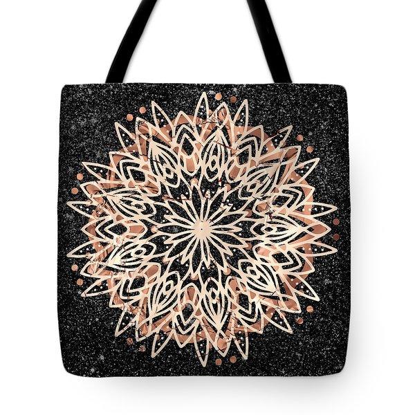 Tote Bag featuring the digital art Metallic Mandala by Bee-Bee Deigner