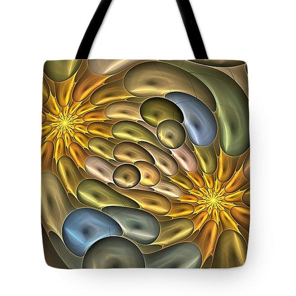 Metallic Mitosis Tote Bag